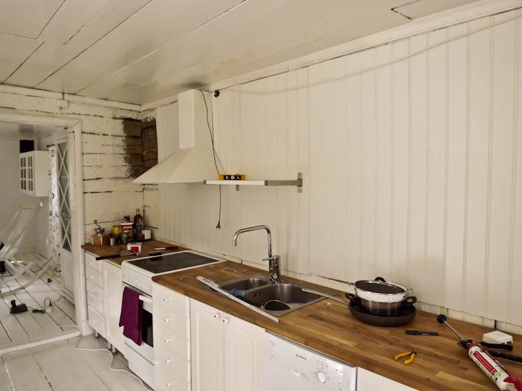 Renovera Mindre Kok : Framsteg i koksrenoveringen  Ett hus po landet